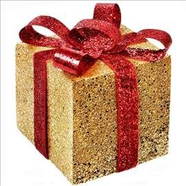Novogodišnja poklon kutija, zlatno-crvena