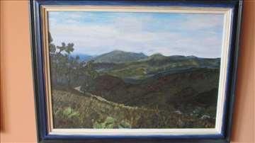"""""""Stara planina"""" - akrilne boje na platnu"""
