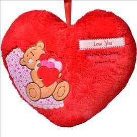 Jastuk u obliku srca sa medom 29 cm