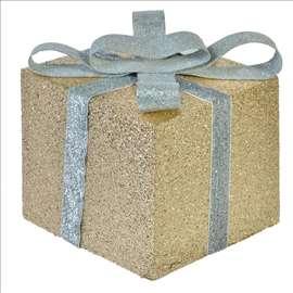 Novogodišnja poklon kutija - zlatno-srebrna
