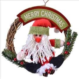 Novogodišnji venac sa Deda Mrazom