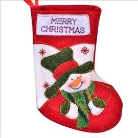 Ukrasna novogodišnja čarapa - Sneško Belić