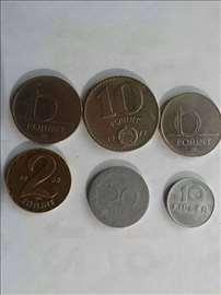 lot kovanica , madjarska , 12 kom , [ unc , xf ]