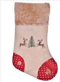 Novogodišnja ukrasna čarapa - 33 cm
