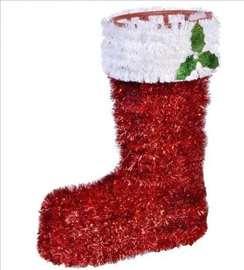 Novogodišnja ukrasna čarapa 3D - 17x23cm