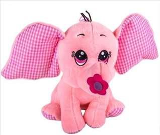 Roze slon, 20cm