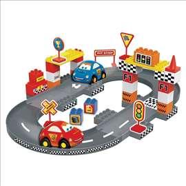 Set kockica - staza za trkačke automobile