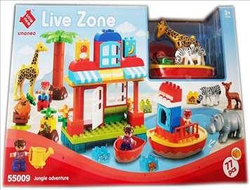 SET Kockica 77 delova - Live Zone JUNGLE ADVENTURE