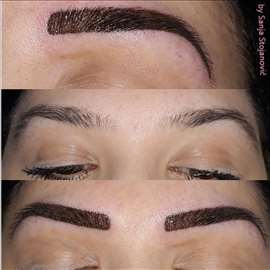 Trajna šminka obrva - tehnika senčenja
