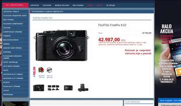 Fujifilm x10 digitalni fotoaparat ekstra cena