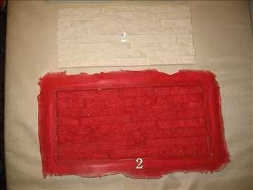 Kalup za lomljeni kamen od gipsa deo 2 sa 8 redova