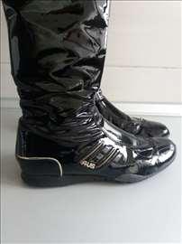 Cesare Paciotti 4US crne lakirane cizme original b