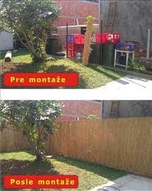 Trska za ograde, letnjikovce, dvorišta, terase...