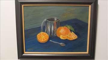 """""""Čaj i pomorandže"""" - slika na platnu"""
