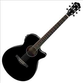 Ibanez AEG 10 II BK ozvučena akustična gitara