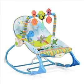 Ležaljka za bebe sa muzikom i vibracijom Jamaica p