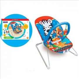Ležaljka za bebe sa muzikom i vibracijom Zebra