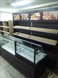 Tople vitrine za pekare, picerije, novo