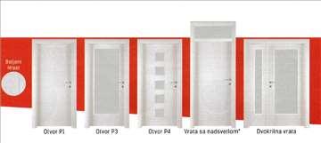 Sobna vrata različitih proizvođača, dimenzija,boja