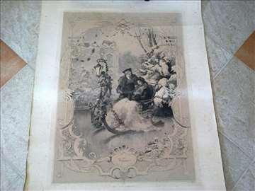 Stara nemacka litografija