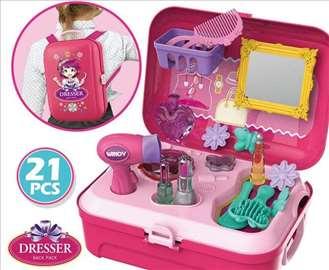 Set za ulepšavanje ranac igračka u koferu manjem