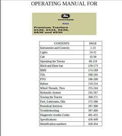 John Deere 6530-6534-6630-6830-6930 Premium