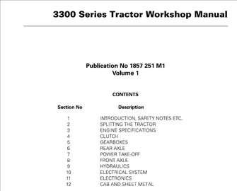 Massey Ferguson 3315-3325-3330-3340-3350-3355