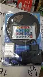 LED traka 5m  bela boja sa adapterom