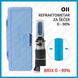 Refraktometar za šećer 0-90% BRIX