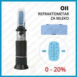 Refraktometar za merenje procenta vode 0-20%