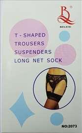 Seksi halteri čarape za žene model C127 - Novo