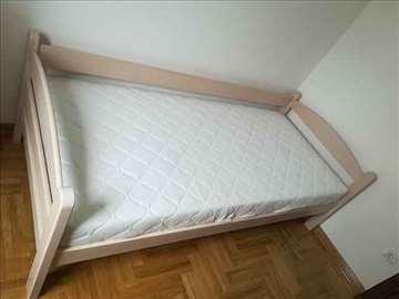 Krevet sofa beli bajc i dusek Memory fleks 90x200