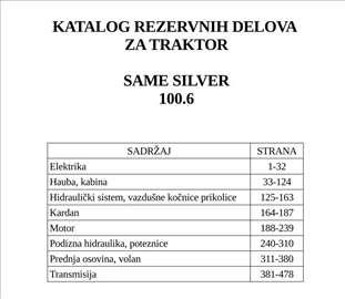 Same Silver 100.6 - Katalog delova