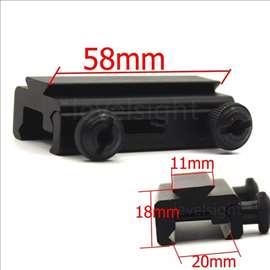 Adapter za pikatini sinu sa 20mm na 11mm