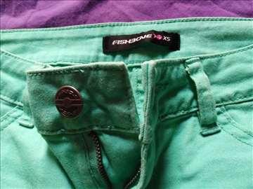Fishbone zelene pantalone