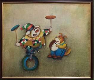 """Slika""""Klovn"""", umjetnik J. Royes(Baltičke zemlje)"""