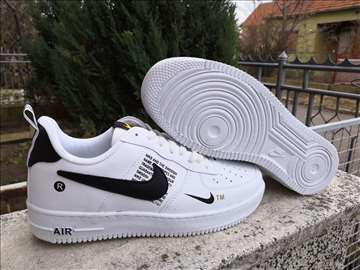 Nike Air Force-bele sa crnim znakom-kožne