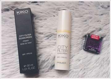Kiko prajmer SPF50 + WET N Wild senka