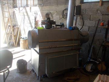 Peć za grejanje sa motorom za izduvavanje