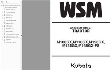 Kubota  GX (FS)  traktori - Radionički priručnik