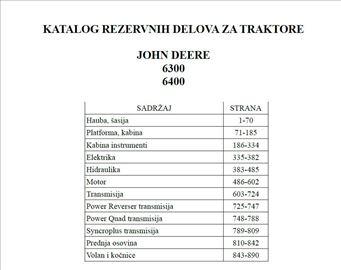 John Deere 6300 - 6400 Katalog delova