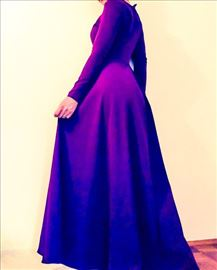 Fenomenalna ljubičasta haljina venčanica