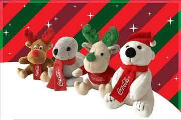 Koka-kola: Vesela družina-set od 4 igračke (Novo)