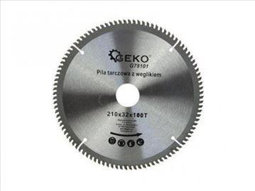 Testera sa vidija za sečenje aluminijum 210 mm