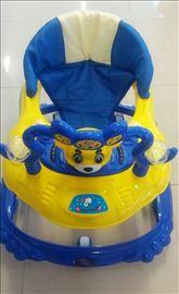 Dubak-šetalica za decu M28090 plavo-žuti