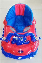 Dubak-šetalica za decu M6260, plavo-crveni
