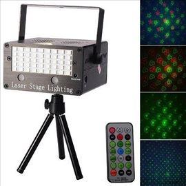 Laser sa Led Stroboskopom+MP3 plejer