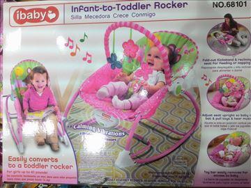 Vibrirajuća muzička ležaljka/sedalica akcija-Baby