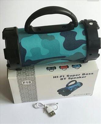 Bluetooth zvučnik F18, maskirni, plavi
