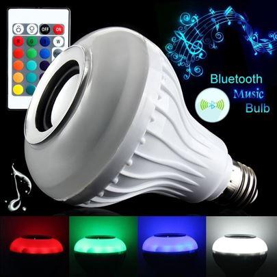 RGB LED sijalica, bluetooth zvučnik i daljinski